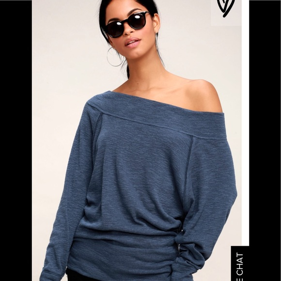 4d18e7c8b9984f Free People Tops - Free People Palisades Thermal-Navy